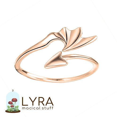 טבעת כנף הדרקון זהובה
