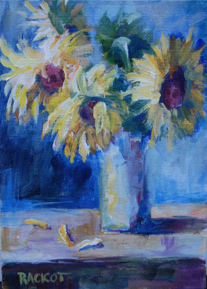 "Day 3 of the 30 Paintings in 30 Days  Challenge -  ""Sunflowers""   SOLD"