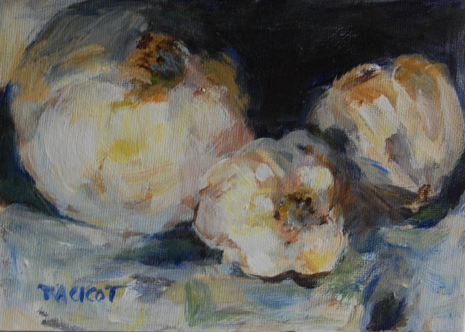 """Day 26 of the 30 Paintings in 30 Days Challenge - """"White Onion and Garlic"""""""