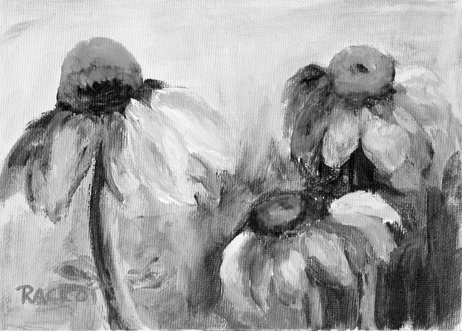 """Day 19 of the 30 Paintings in 30 Days Challenge - """"Coneflowers at Colonial Williamsburg"""""""