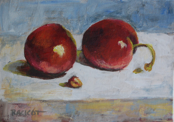 """Day 9 of the 30 Paintings in 30 Days Challenge - """"Who Ate the Cherry?"""""""