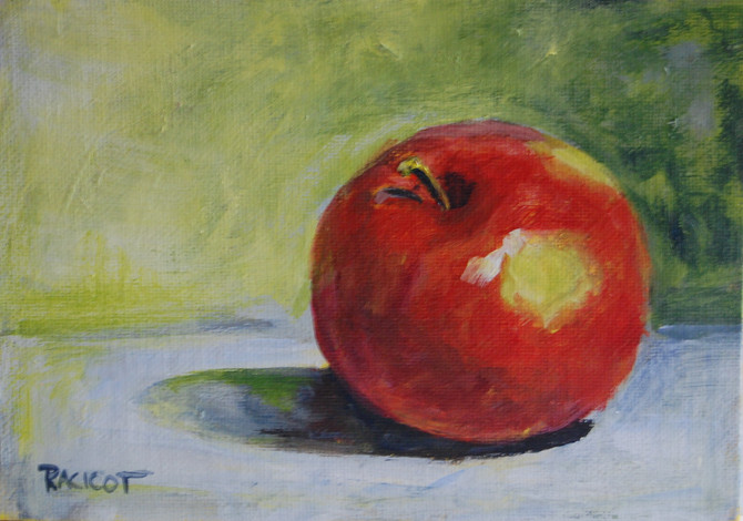 """Day 10 of the 30 Paintings in 30 Days - """"Applie Pie?"""""""