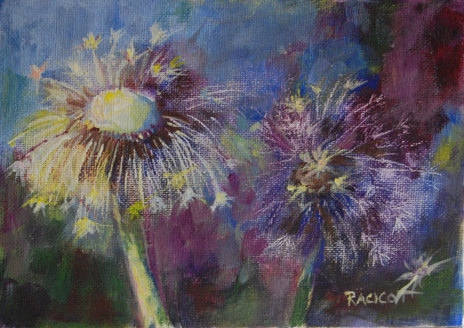 """Day 8 of the 30 Paintings in 30 Days Challenge - """"Gone to Seed"""""""