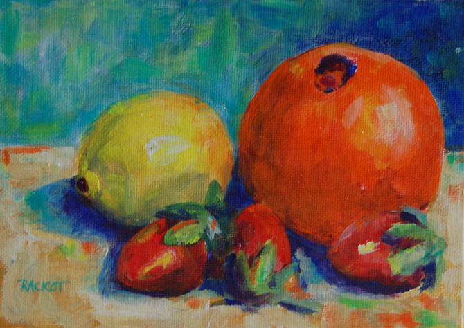 """Day 6 of 30 Paintings in 30 Days - """"Colorful Fruit"""""""
