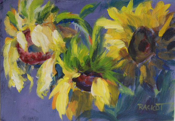 """Day 24 of the 30 Day Challenge - """"Three Sunflowers"""""""