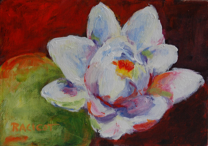 """Day 20 of the 30 Paintings in 30 Days Challenge!  """"Lily on Fire"""""""