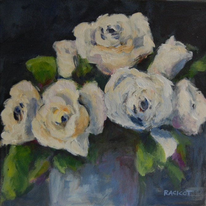 """Last day of the 30 Paintings in 30 Days - """"White is for Love"""""""