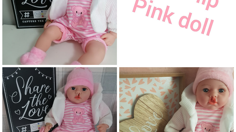 Cleft lip pink doll