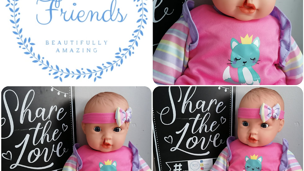 Cleft lip girl doll