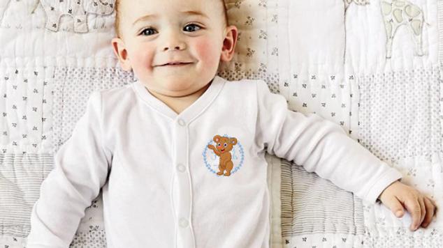 Bonnie bear hearing aid baby grow