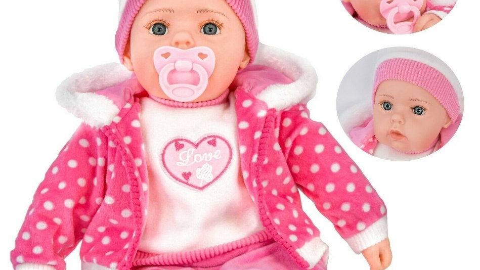 Pink and white Spotty girl doll