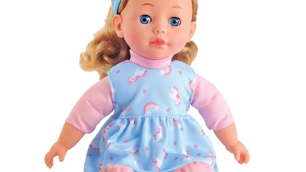 Soft bodied toddler girl doll