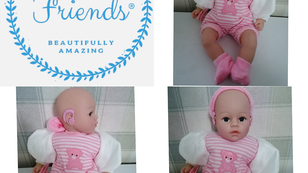 Hearing aid pink doll