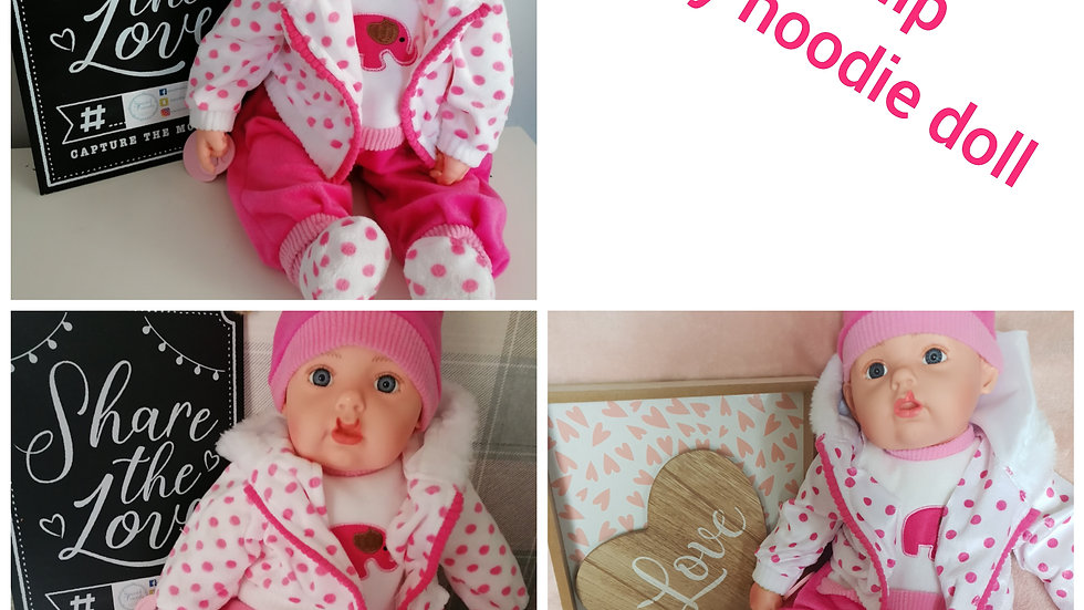 Cleft lip Spotty hoodie doll