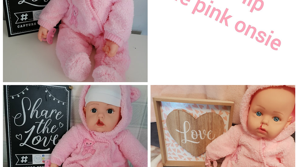 Cleft lip pale pink onsie doll
