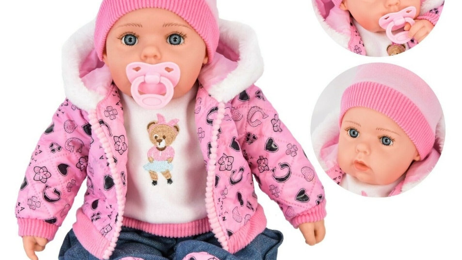 Pink and denim girl doll