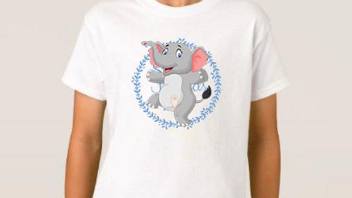 Ellie elephant stoma tshirts