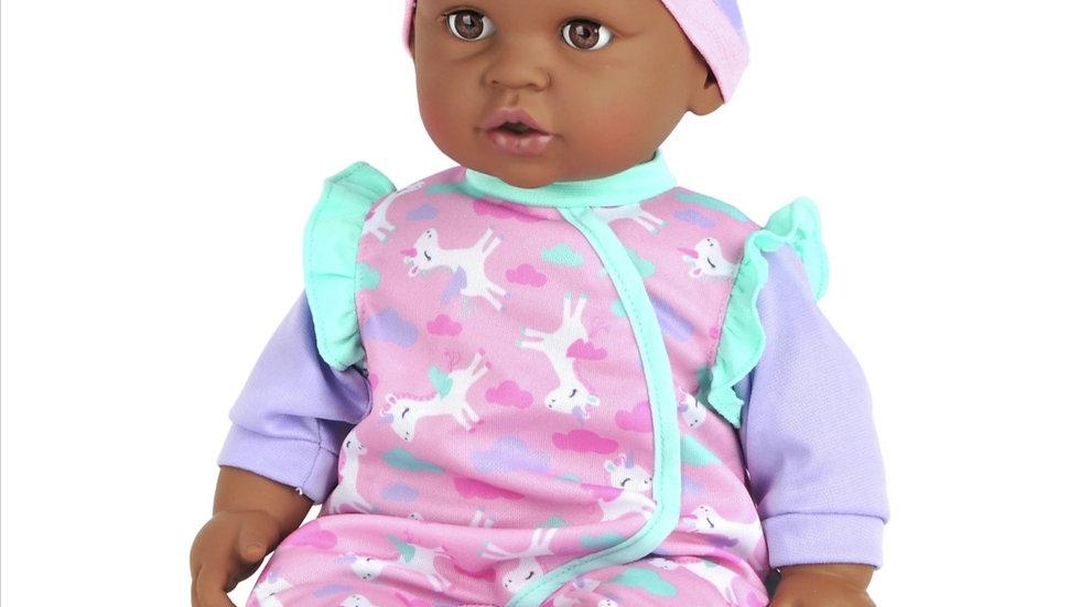 Black soft body girl doll