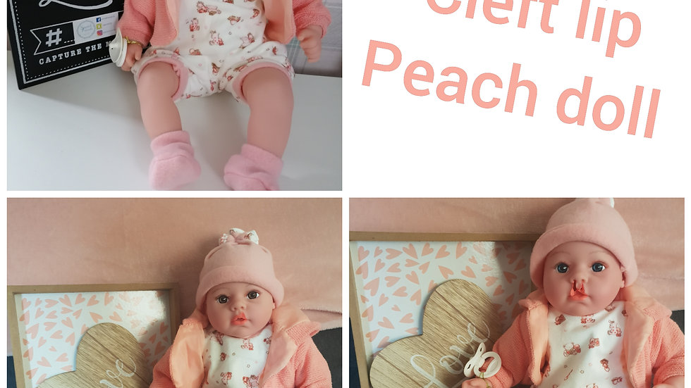 Cleft lip peach doll