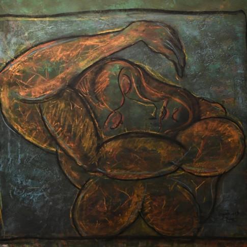 A woman 56x51