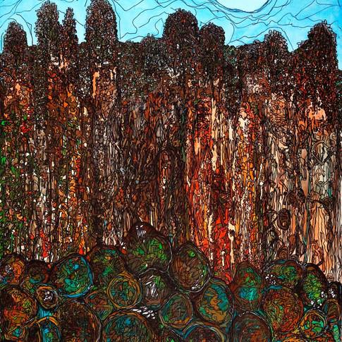 The rocks of Atlas mountain