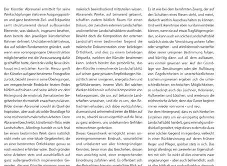 Ika Abravanel: Landschaftliche Darstellung als eine Essenz aus Farbenpracht.