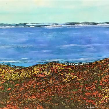 The sea shore 90x70