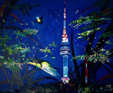 김주희,반딧불서울,65x53,oil on  canvas,2018,80만원
