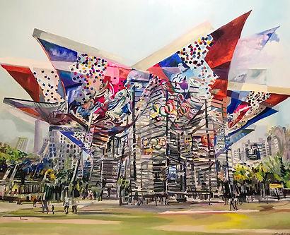 김주희,올림픽 공원, 163x130.3, oil on canvas, 20