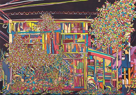 Miyazaki(宮崎市)_Japan_1, 장지에 분채 아크릴, 50x73