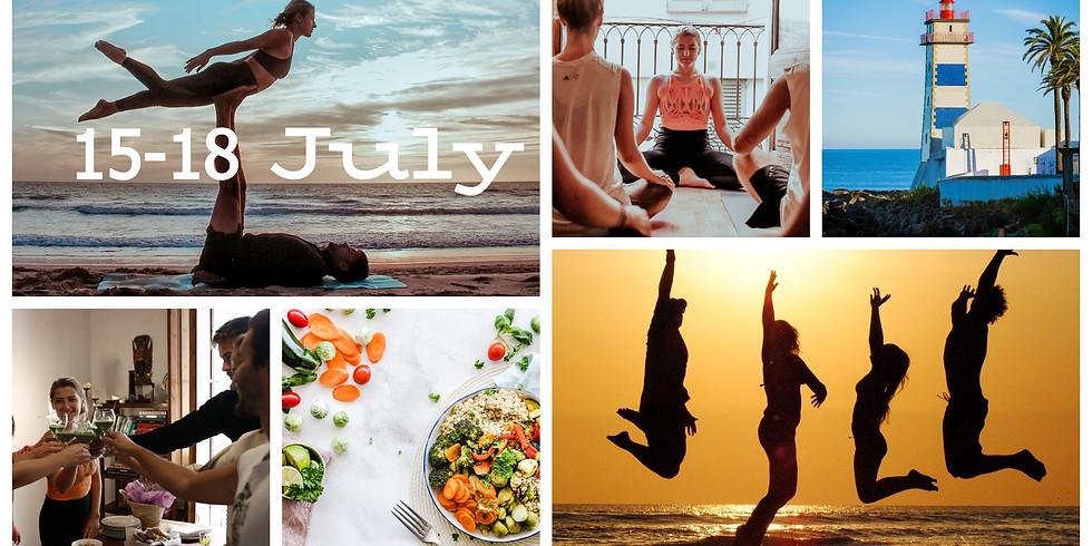 8-11 July 2021 / 4 Days Beginners Beach Acro Yoga Couples Retreat, Portugal