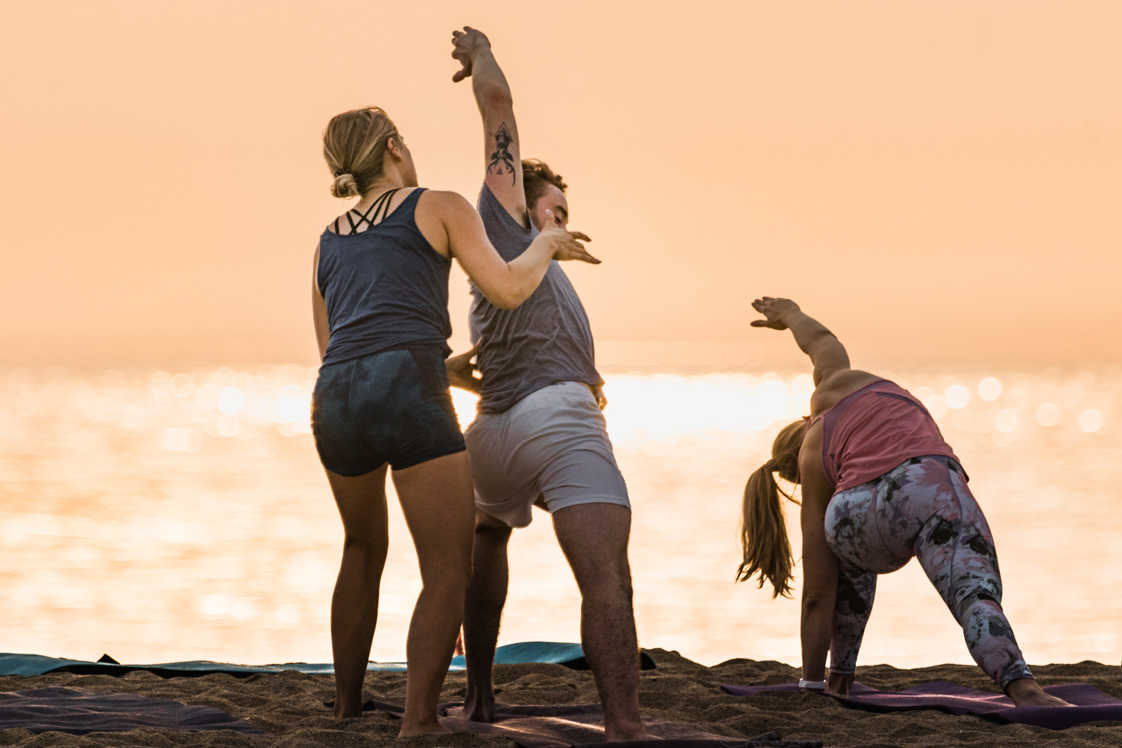 Beach yoga for all levels