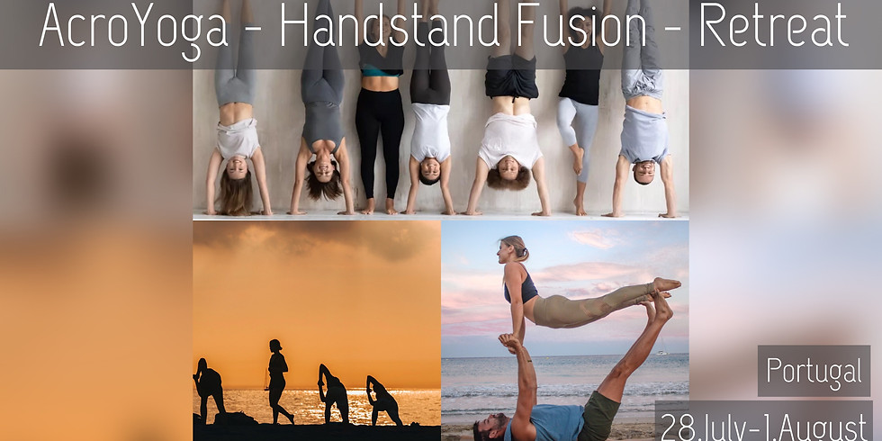 28 July - 1 August 2021 / 5 Days Beach AcroYoga, Yoga & Handstand Retreat, Portugal