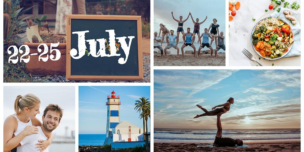 22-25 July 2021 / 4 Days Beginners Beach Acro Yoga Couples Retreat, Portugal