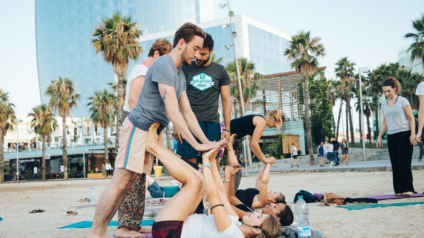 Acro Yoga for a Good Cause