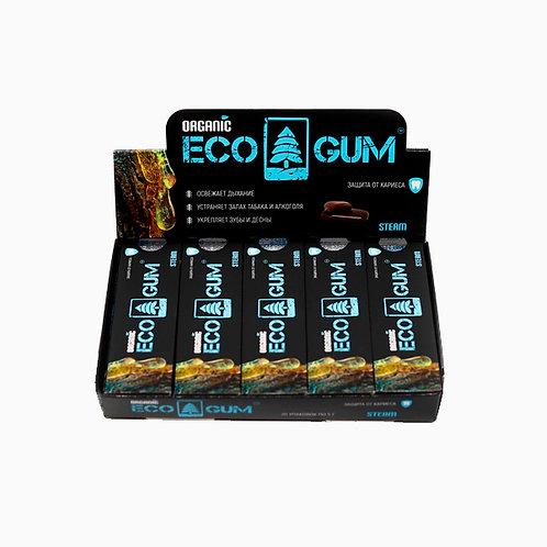 Жевательная смолка лиственницы ECO GUM steam (паровая), 5г. \5шт\