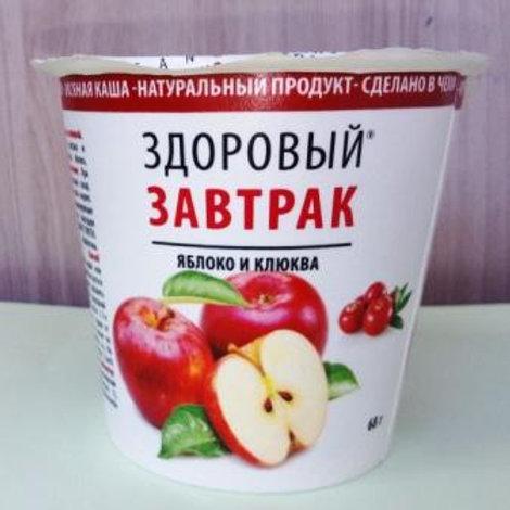 """Здоровый завтрак """"Яблоко и клюква"""" OBEZIN, 68гр"""