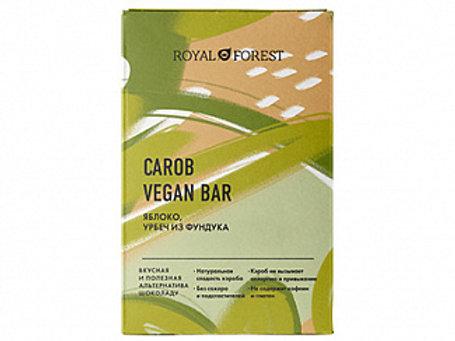Шоколад ROYAL FOREST CAROB VEGAN BAR (яблоко, урбеч из фундука), 50 гр