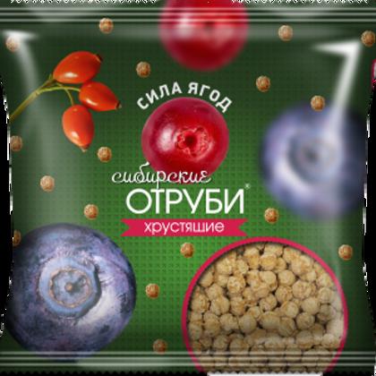 """Сибирские отруби хрустящие """"Сила ягод"""" 100гр"""