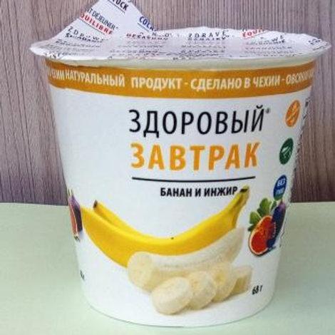 """Здоровый завтрак """"Банан и инжир"""" OBEZIN, 68гр"""
