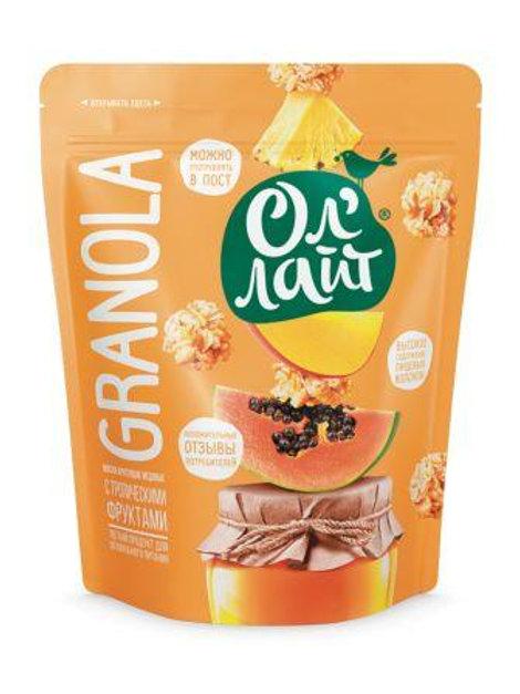 Гранола-мюсли запеченные медовые с фруктами, 280гр