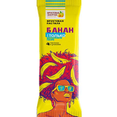 Фруктовая пастила ФЭ Банан без сахара, 30г.