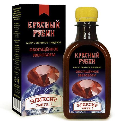 """Масло льняное с экстрактом зверобоя """"Красный рубин"""" ,  200гр."""