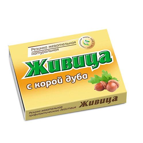"""Смолка жевательная """"Живица"""" с корой дуба,  5шт по 0,8г"""