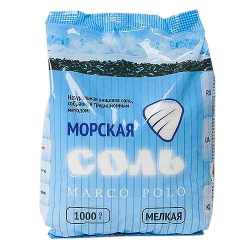 Соль морская мелкая ТМ Марко Поло, 1кг