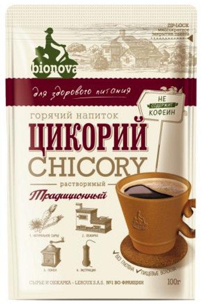 """Цикорий """"Бионова"""" растворимый традиционный 100г"""