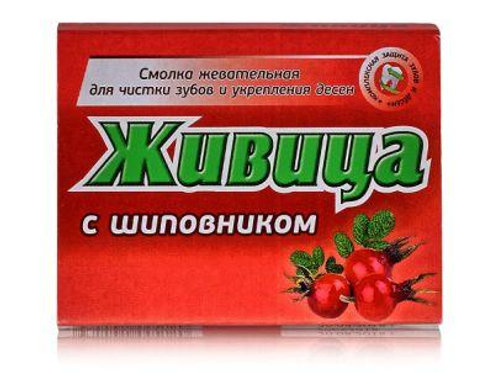 """Смолка жевательная """"Живица"""" с шиповником,  5шт по 0,8г"""