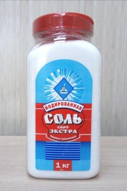 Соль Йодированная, экстра, 1кг