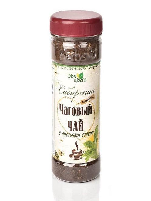Чаговый чай с листьями стевии «Экоцвет»,  90 г