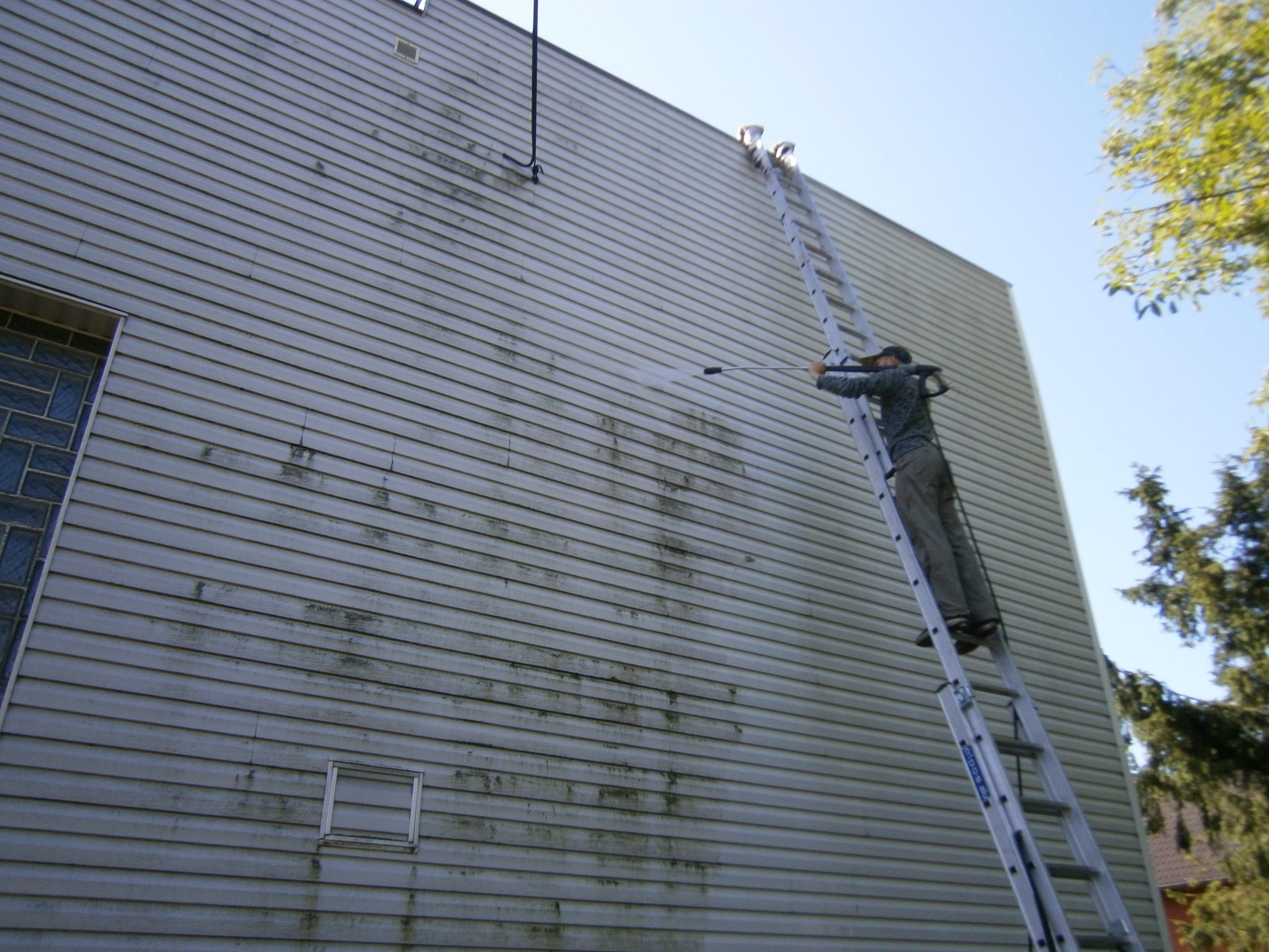Čištění fasády 1